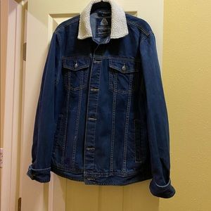 American Rag Denim Jacket with Fur Collared